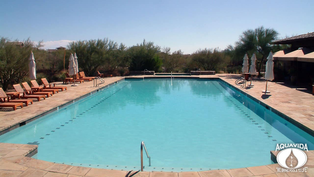 Scottsdale Mirabel Clubhouse Pool Aquavida Pools Pool Remodeling Experts