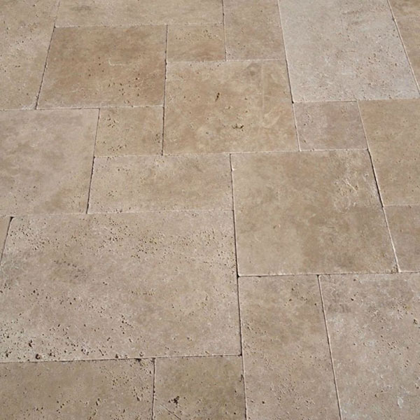 Corallion Versailles Pattern Tumbled Travertine Paver