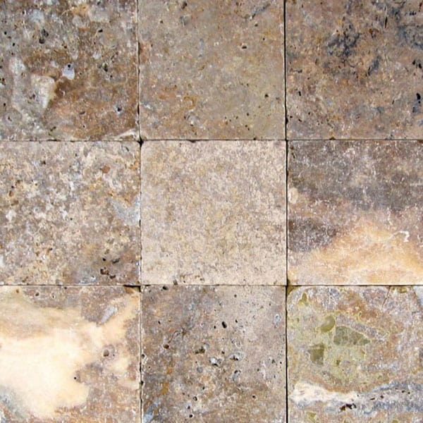 Fantastico-Classic 6x6 Tumbled Travertine Paver