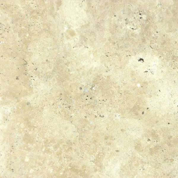 Ivory Beige Unfilled 12x12 Brushed and Chiseled Travertine Paver