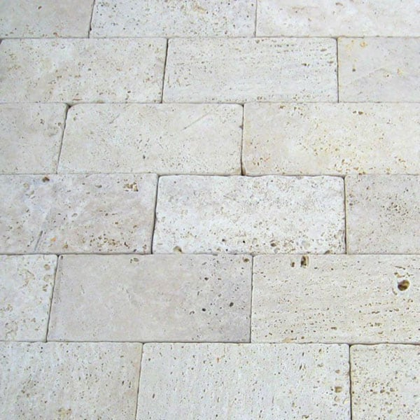 Nysa 6x12 Tumbled Travertine Paver