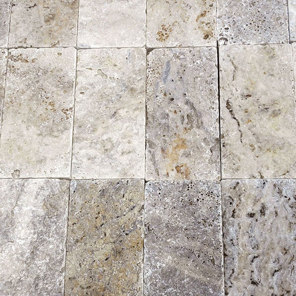 Philadephia 6x12 Tumbled Travertine Paver