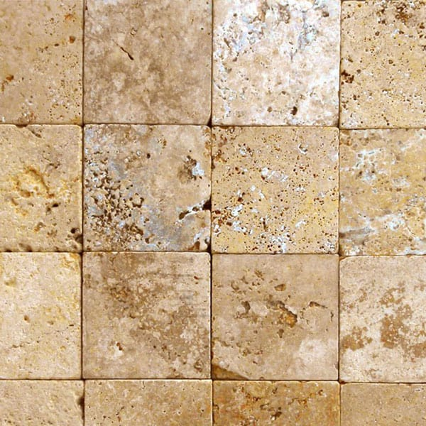 QDI Gold 12x12 Tumbled Travertine Paver