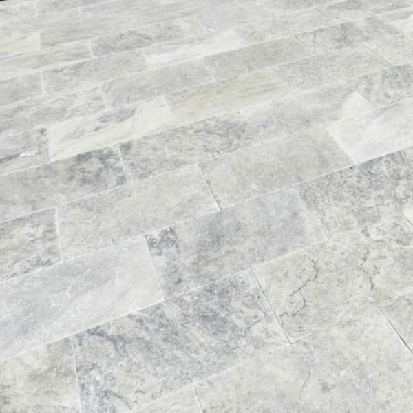 QDI Silver 16x24 Tumbled Travertine Paver
