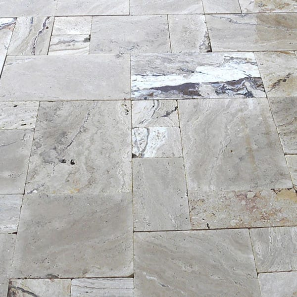 Riviera Versailles Pattern Tumbled Travertine Paver