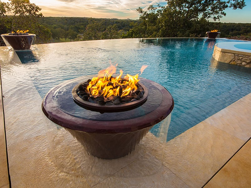 Aquavida Pools Fire Pot Water Features